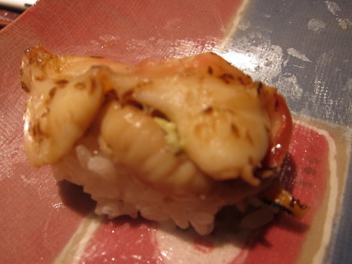 cooked shellfsh sushi