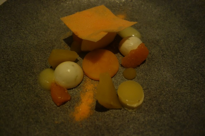 mandarin with white chocolate
