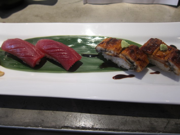 sushi of tuna and eel
