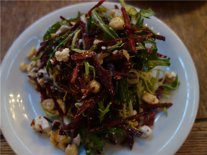 salad of beetroot, hazelnut and goat cheese