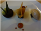 chocolate dessert trio