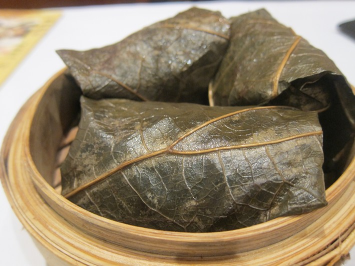 rice in lotus leaf