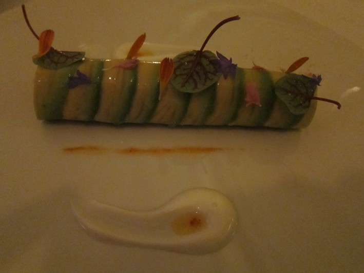 crab wrapped in avocado