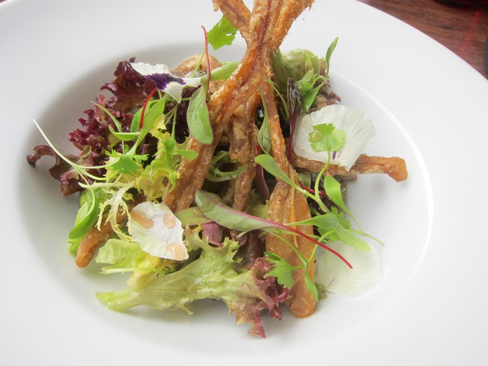 pork scratching salad