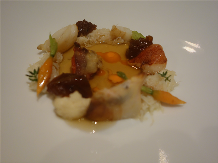 crab with carrots