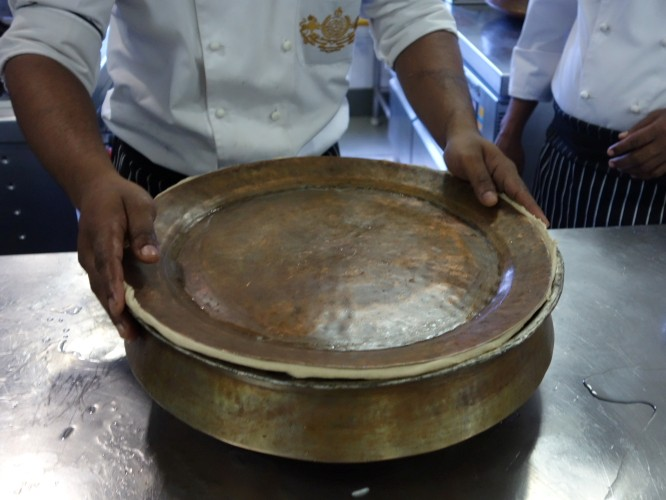 biriani pot sealed with pastry