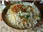 close up of chicken biryani
