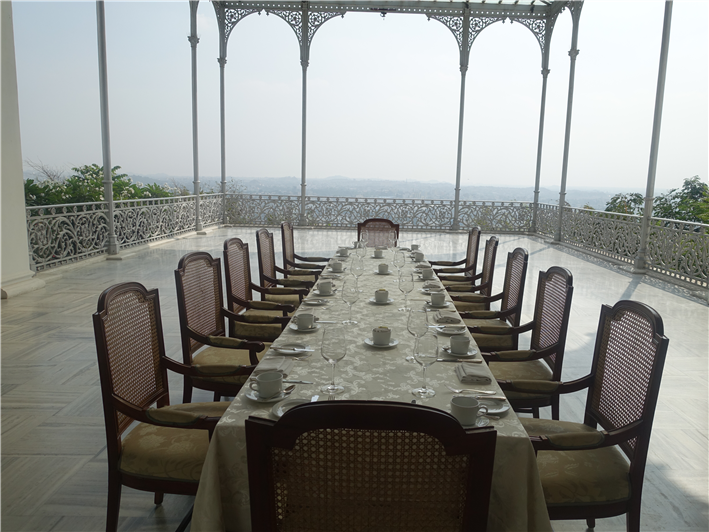 table set on main terrace
