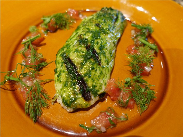 sea bass with tomato vinaigrette