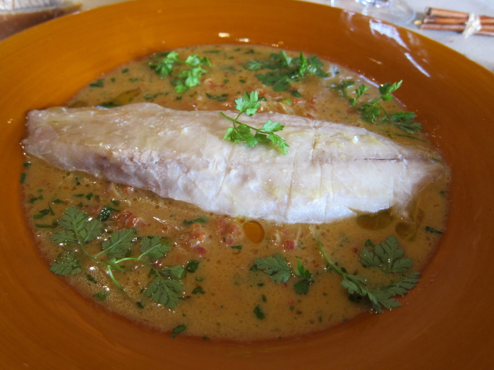 sea bream with herb sauce