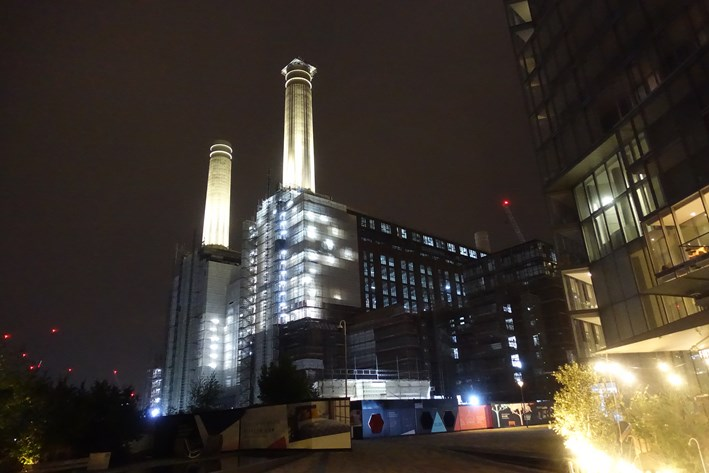 Battersea power station next door