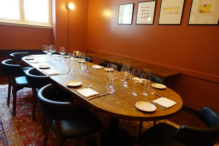 smaller private dining room