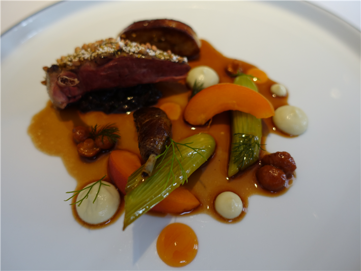 pigeon and vegetables