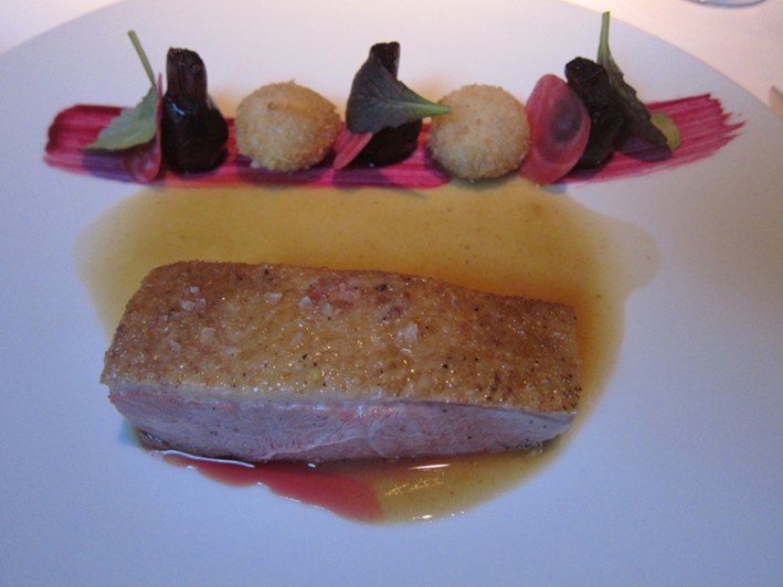 Challans duck and beetroot