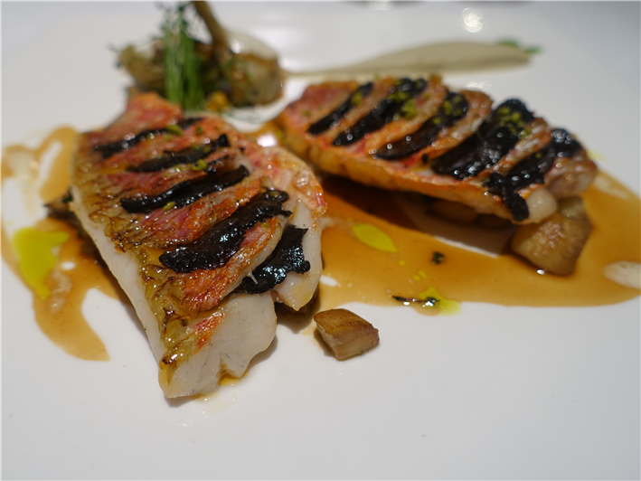 red mullet with truffle
