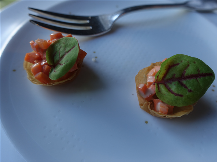 vegetable tartlet nibble
