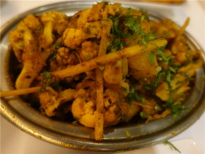 aloo gobi with ginger