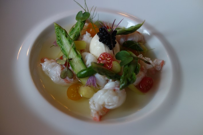 langoustine in tomato essence