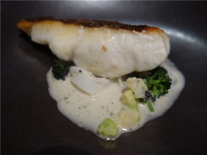 brill with Romanesco sauce