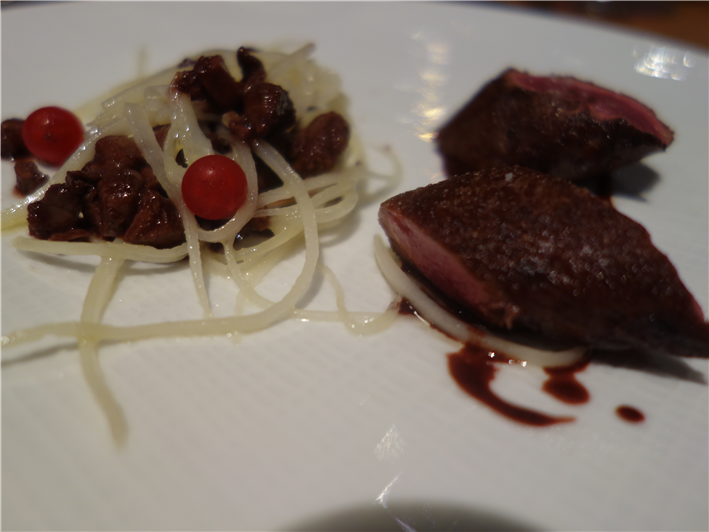 "hare with salsify ""spaghetti"" and hare ragu"