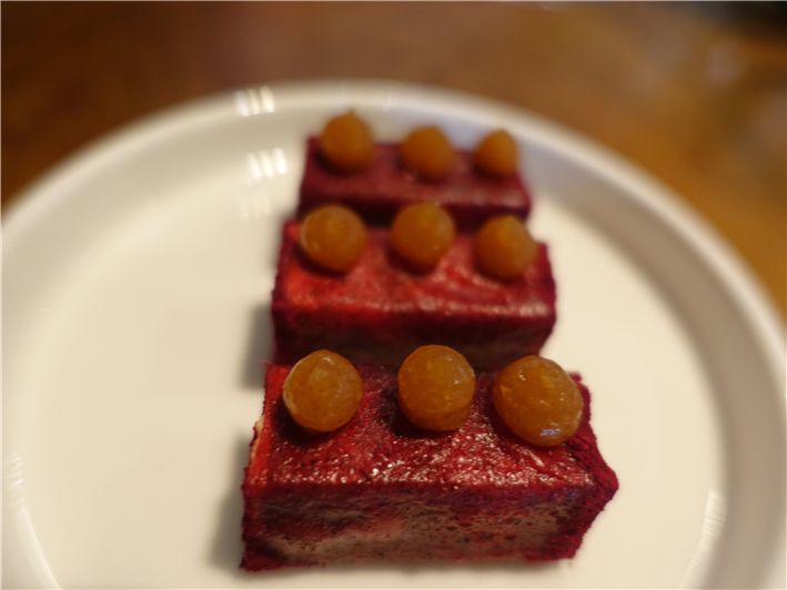 beetroot and foie gras nibble