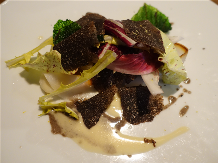 winter salad with truffles