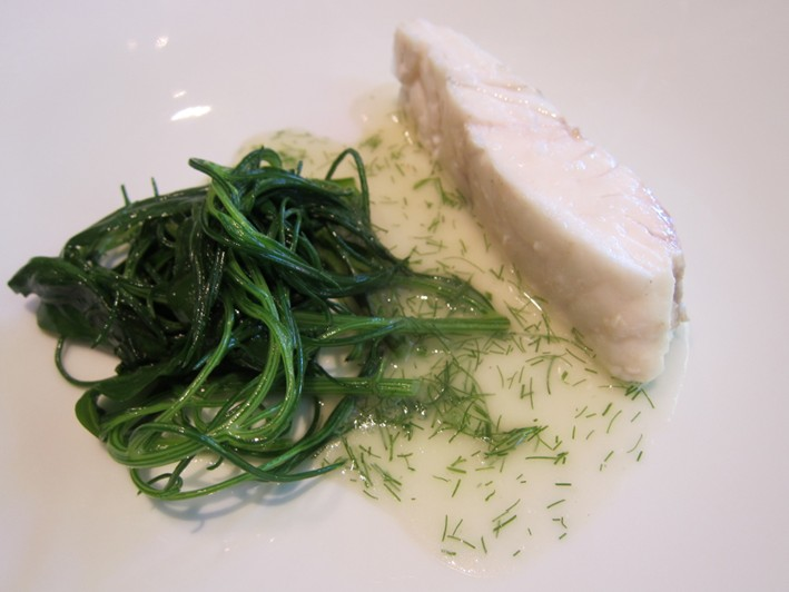 turbot with seaweed