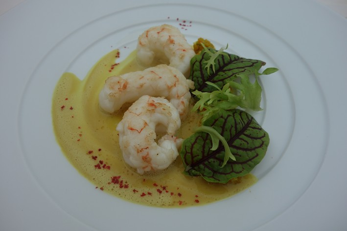 langoustines with quinoa