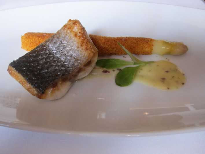 sea bass and white asparagus