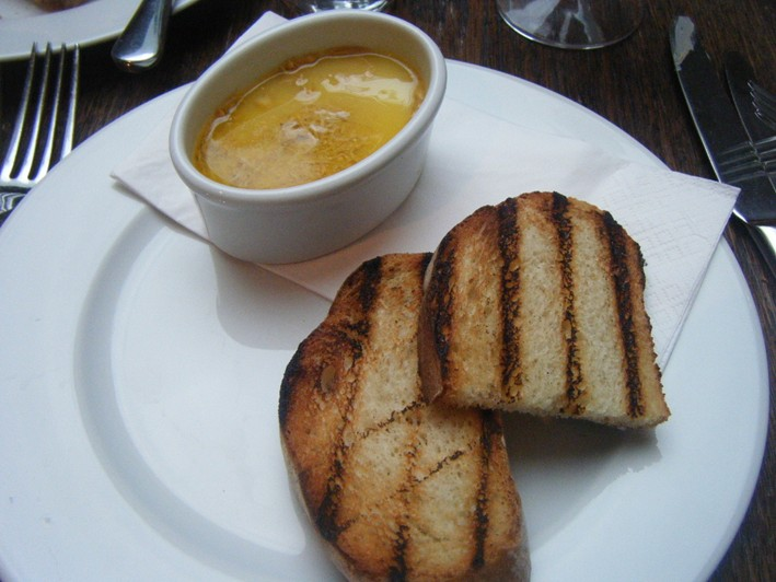 potted crab with toast