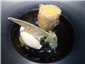 pineapple fritter with salted lime jelly