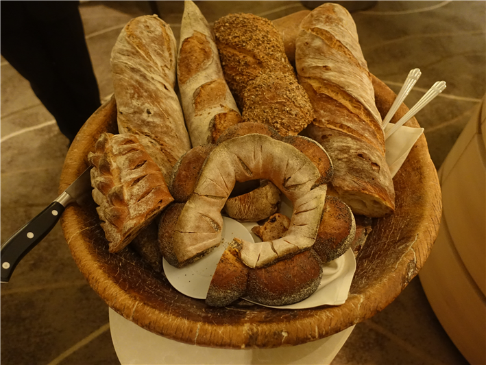 bread selection with cheese course