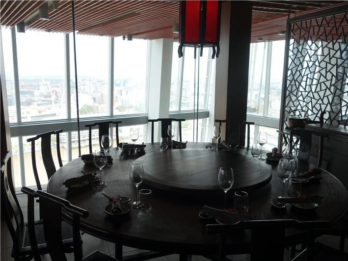 Restaurant review of Hutong London at The Shard June 2013 by Andy Hayler