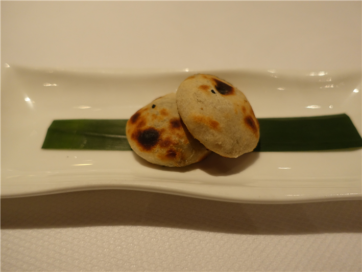 miniature blue cheese naan