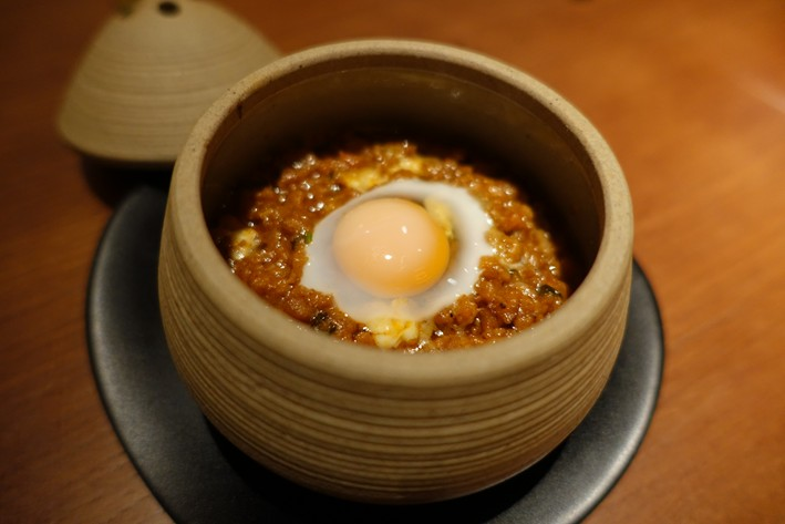 keema with quail egg