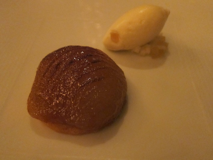 caramelised honey pear