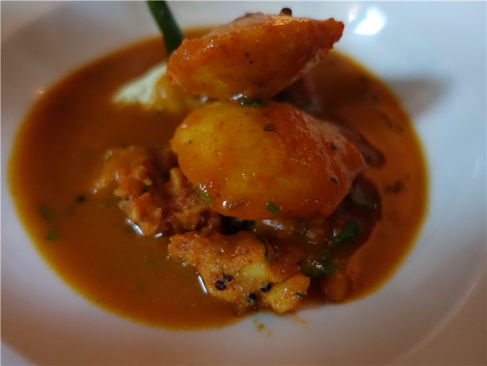 lobster sambal with idli