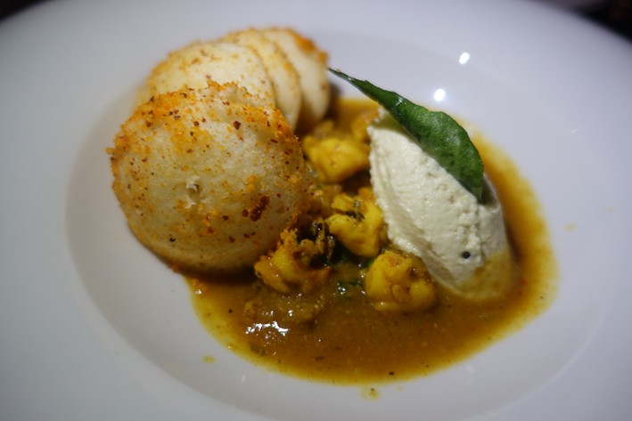 lobster and idli