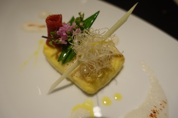 sea bass with lemongrass emulsion