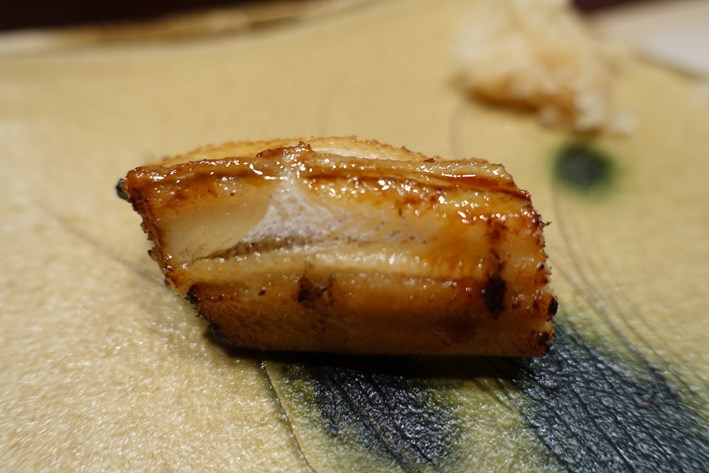 anago with its sauce