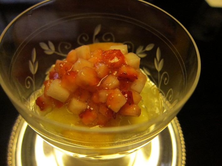 soy bean jelly and fruit