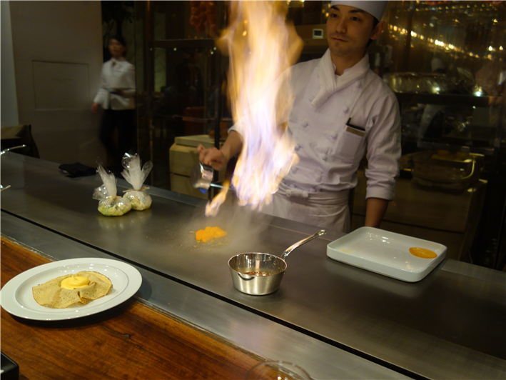 flambé of the crepe