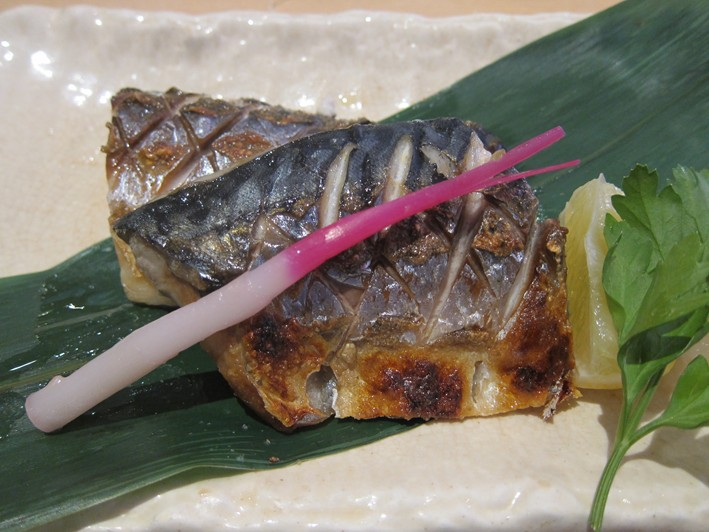 the lovely grilled mackerel