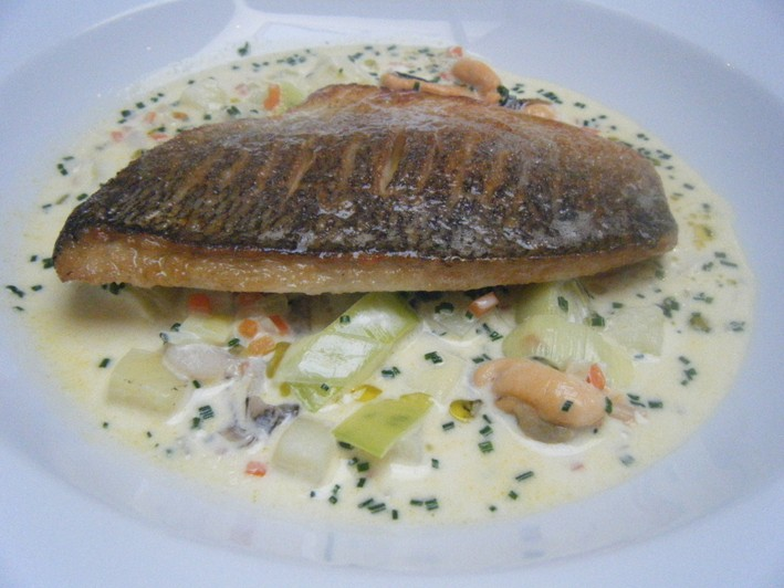 bream with leeks
