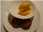 financiers and passion fruit sorbet
