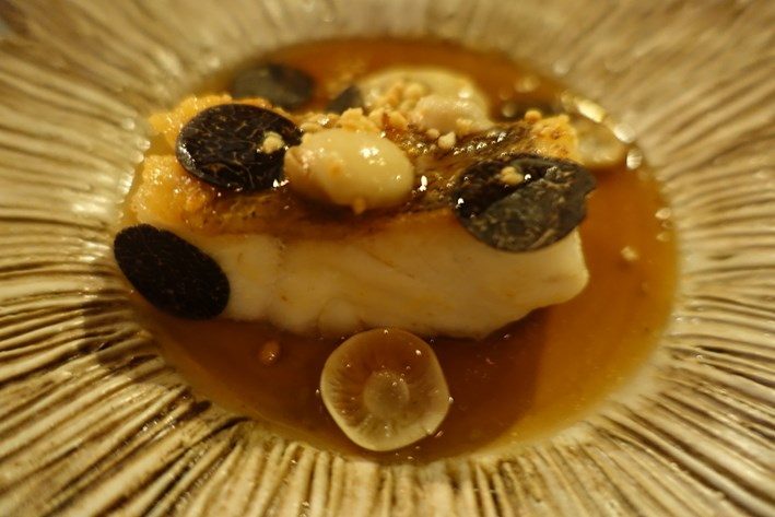 pike perch with truffles
