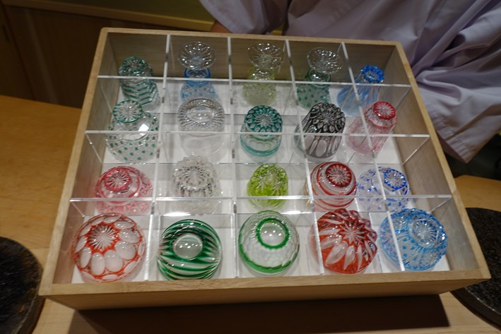 sake glass selection