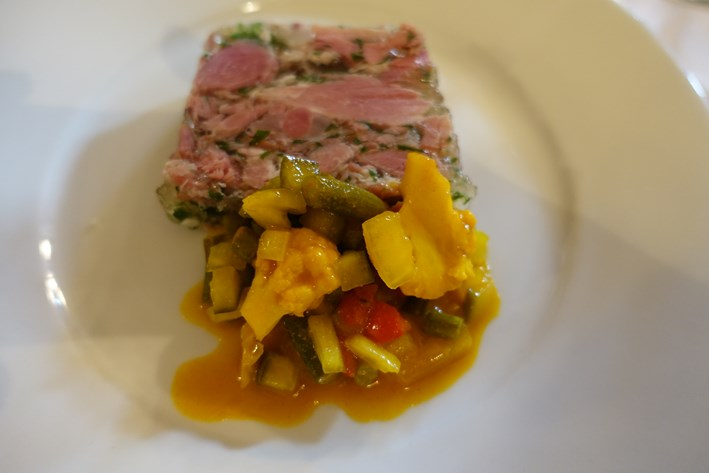 terrine and piccalllli