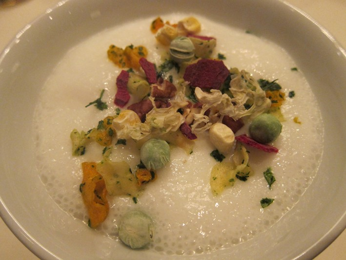 parsnip milk and dried vegetables