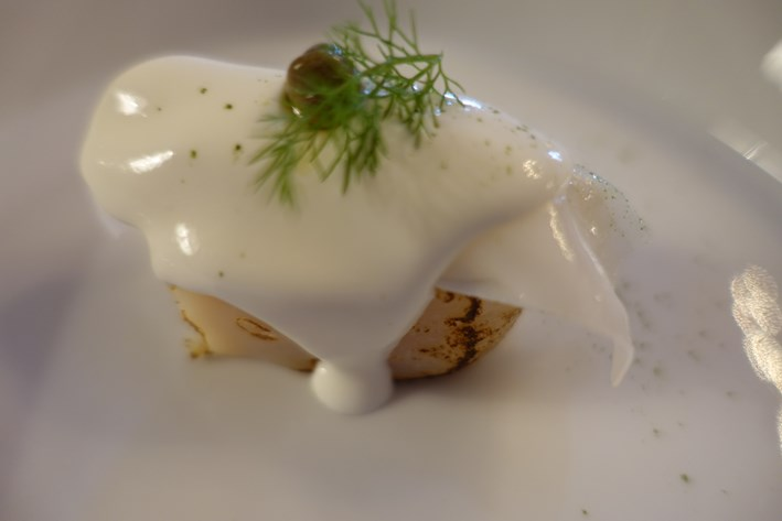 scallop with buffalo milk